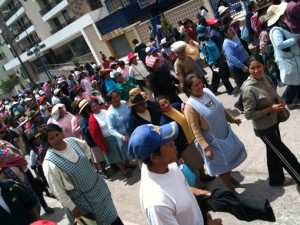 ThinkEvans protests water rights in Cuzco, Peru