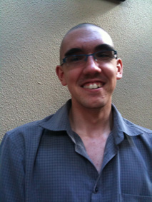 Alan Evans from ThinkEvans after shaving his head for leukaemia research