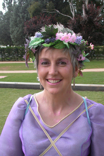 ThinkEvans Creative Consultant Roslyn Hull in character