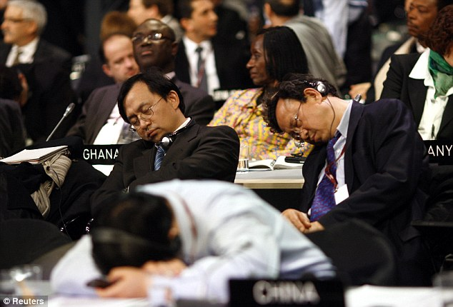 Sleeping in UNGA climate change debate 2009