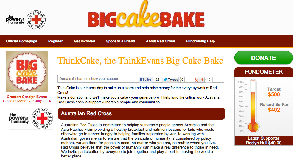 ThinkCake banner 28 July 2013